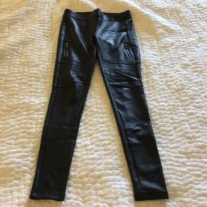 Express Faux Leather Motorcycle Leggings